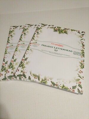 Geographics Christmas Holiday Letterhead Paper 240 Sheets Holly & Ivy #47589 ()