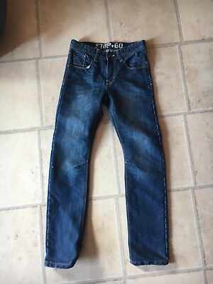 Blaue Kinder-jeans (Kinder Jeans Gr 158 Dunkelblau Schöne Waschung Neuwertig)