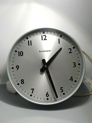 Synchronome electric wall clock made in England