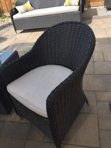 Rattan chairs with cousins