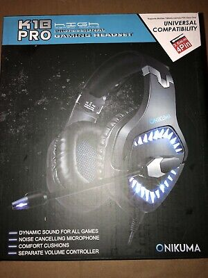 ONIKUMA BLUE K1-B Pro Stereo Surround Gaming Headset for PS4 Xbox One PC w/Mic
