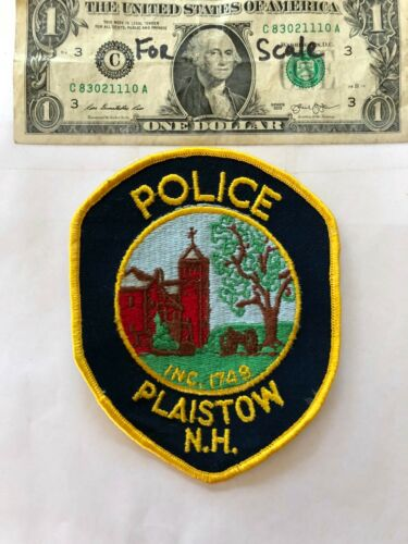 Plaistow New Hampshire Police Patch un-sewn in mint shape