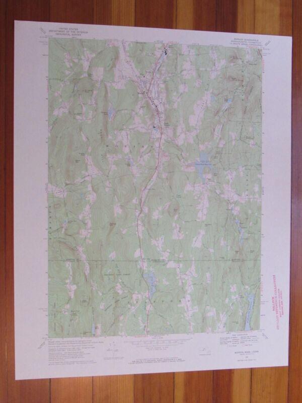 Monson Massachusetts 1969 Original Vintage USGS Topo Map