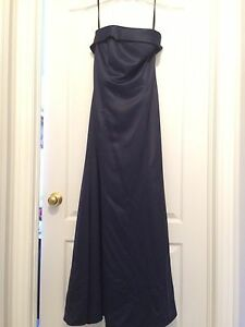 STRAPLESS Navy Alfred Sung Dress