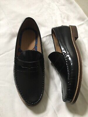 House Of Hounds Blk Leather Slip On Loafer UK 10 EURO 44