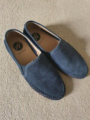 Hudson Navy Suede Crew Loafers UK Size 9