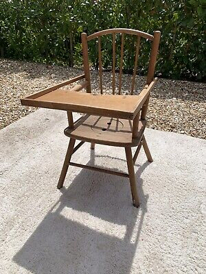 Antique Victorian Childs Low Feeding/Potty Chair