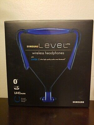 Samsung Level U pro Wireless Headphones with ultra high quality audio over blue