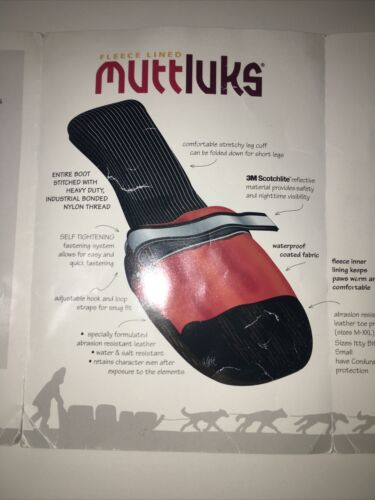 Muttluks Dog Boots 4 Booties Shoes Snow Rain All-Weather Black Pink SZ XL - CA$62.99