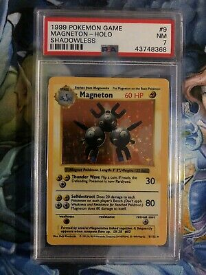 PSA 7 Base Set Magneton Shadowless Holo 1999 Pokemon 9/102