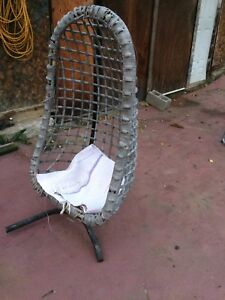Free standing wicker chair
