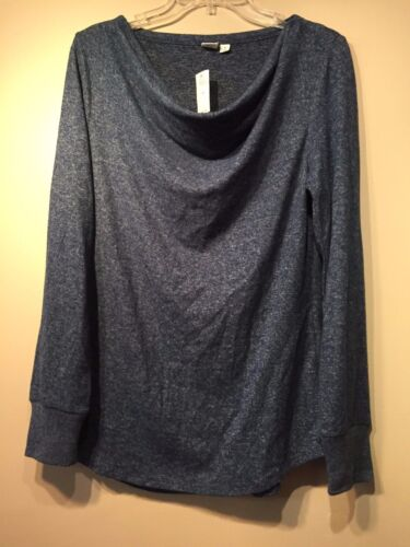 NWT Gap Maternity Cowlneck marled top, Night SIZE M    #165879