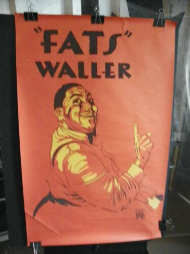 """Vintage Poster """"Fats Waller"""" 26x40"""" Personality Posters 1968 Thick Stock Paper"""