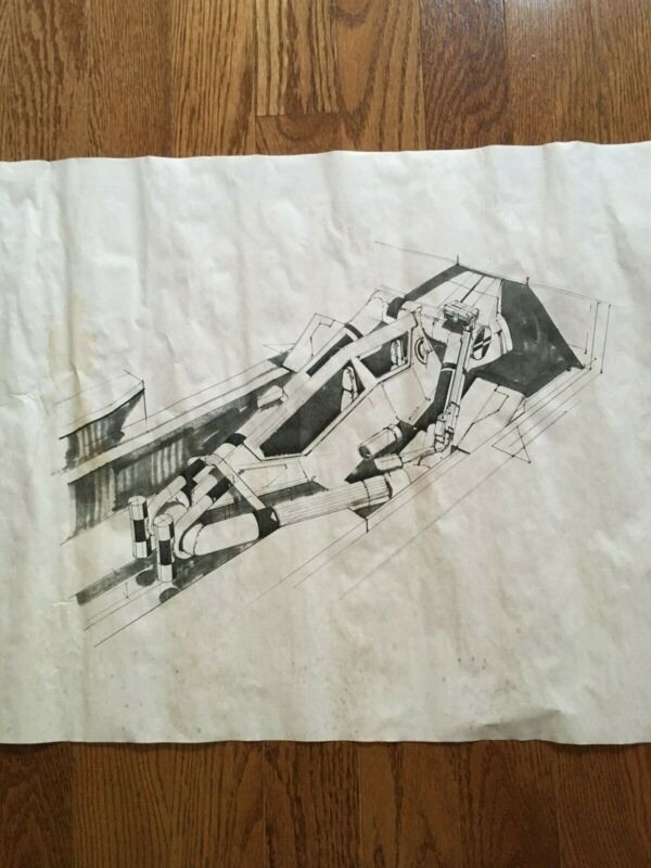 Time Cop ORIGINAL construction drawing of Rocket Propelled