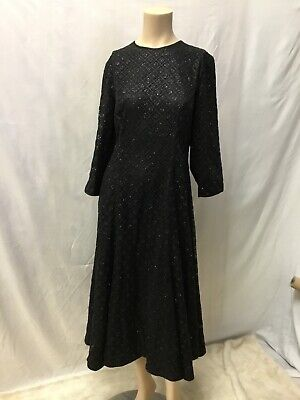 🦆ISABEL GARCIA Womens Dress Rich Black Size Large XL Sheath Sequined