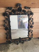 Black wrought iron rose mirror Aldgate Adelaide Hills Preview