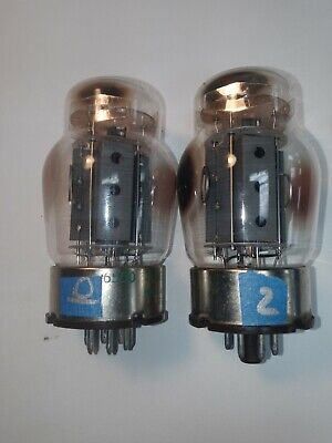 Matched Pair Vintage Tung-Sol 6550 Tubes USA Test GREAT - 3 hole Grey Plate
