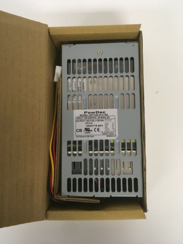 PowDec HDT125-43-C-RA Power Supply 100-240VAC INPUT +5V +/-15VDC  OUTPUT 125W CL
