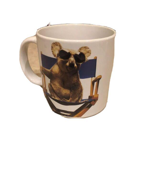 Vintage 1985 QANTAS Airlines Advertising Mug Australian Koala
