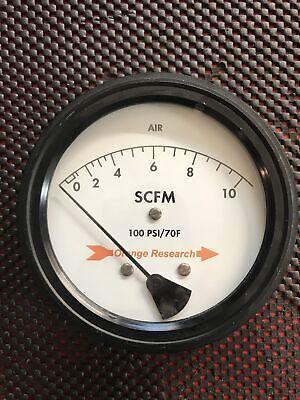 Orange Research Flow Rate Meter 10 Scfm 100 Psi 14 Npt