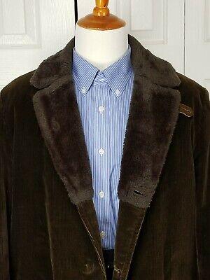 Mighty Mac Cord Green Corduroy Captain Coat Jacket 42 Gloucester Fisherman for sale  Deltona