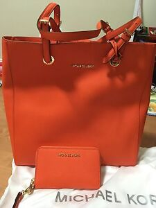 Michael Kors Leather Tote and matching MK Wallet