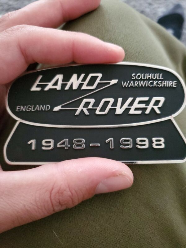 1998 Vintage Land Rover 1948-1998 50th Anniversary badge decal