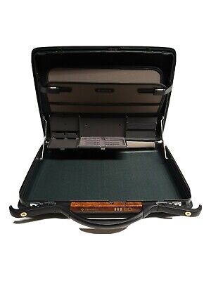 "Samsonite 18"" Green Hard Shell Slim Briefcase with Combination Lock."