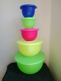Tupperware Neon Expressions Bowls Limited Edition