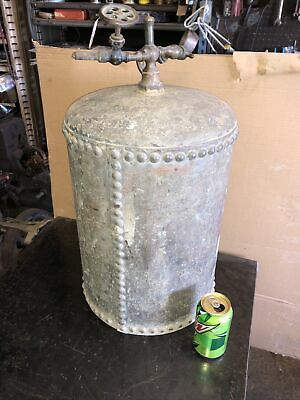 Antique Rivited Cooling Tank Hit Miss Steam Tractor Engine