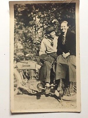 VINTAGE EARLY MOTORCYCLE RPPC