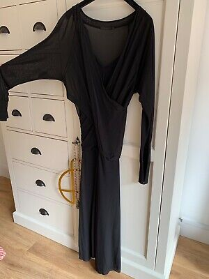 Donna Karen Black cocktail Dress Size medium with black slip,