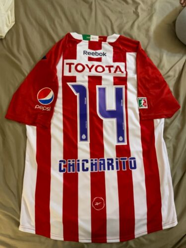 Jersey Chivas Reebok 2010/11 Chicharito #14 Authentic By Reebok, Size XL.