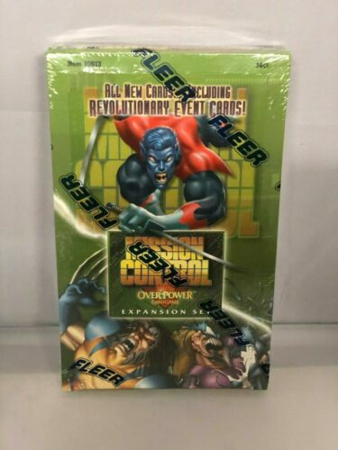 Marvel Overpower: Mission Control: 36 Packs CCG Factory Sealed Booster Box! RARE