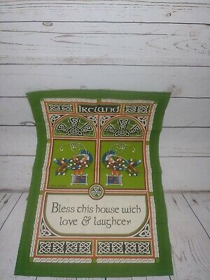Ireland Celtic Peacock Table Cloth towel bandana collectable wall tapestry