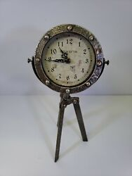 Ashton Sutton CX1611 Metal Standing Table Tripod Clock #342