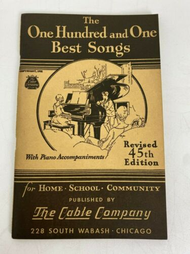 One Hundred and One Best Songs 45th Edition Book Sheet Music Piano 101 Cable Co.