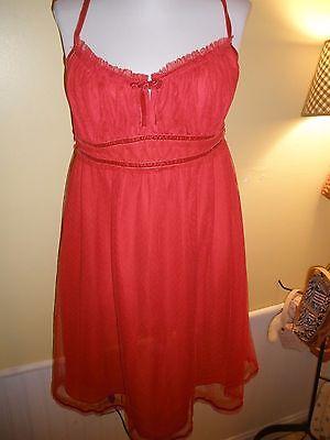 Simply Vera Vera Wang medium red sexy lingerie Nightie Night Gown