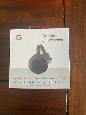 Google - Chromecast (3rd Gen.) Streaming Media Player - Charcoal (GA00439-US)