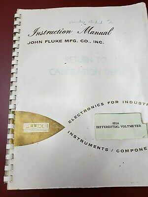 Fluke Model 821a Differential Voltmeter Instruction Manual