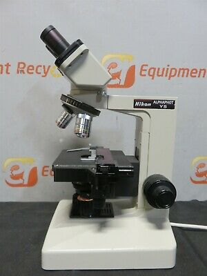 Nikon Alphaphot Ys Laboratory Microscope Phase Contrast 3 Objectives