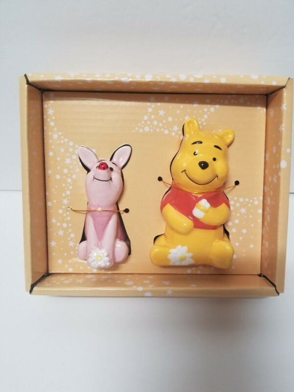 Disney Winnie The Pooh And Piglet Salt And Pepper Shakers