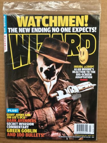 WIZARD MAGAZINE #209 (NM SEALED) WATCHMEN RORSCHACH COVER - ALAN MOORE AVENGERS