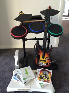 Wii Fit, Guitar Hero & console  Nords Wharf Lake Macquarie Area Preview