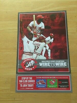 Cincinnati Reds 1990 World Series Champions Wire to Wire Poster (Cincinnati Reds World Series)