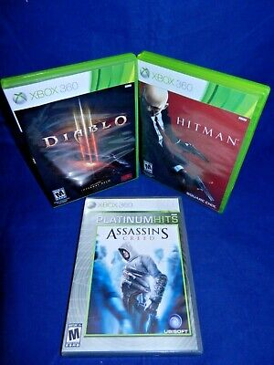 Used, Lot of 3 XBox 360; Assassin's Creed, Hitman Absolution, Diablo 3, All w/Mans, VG for sale  Lake Oswego