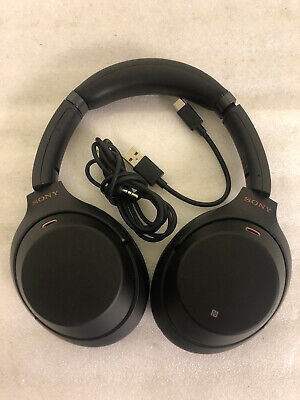 SONY WH-1000XM3 WIRELESS BLUETOOTH NOISE CANCELLING OVEREAR HEADPHONES NFC *S75*