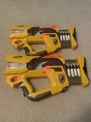 Lot of 2-Nerf N Strike Firefly Rev-8 Gun- Tested & Working - W/ 10 Darts