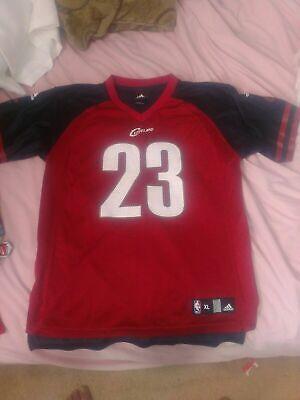 Rare Adidas Nba Cleveland Cavs LeBron James Football Jersey Youth Size XL