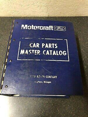 1990-1995 FORD LINCOLN MERCURY CARS MOTORCRAFT CAR PARTS MASTER CATALOG OEM